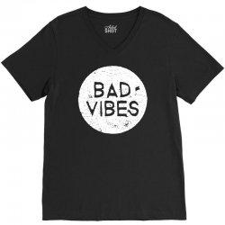 bad vibes white style V-Neck Tee | Artistshot