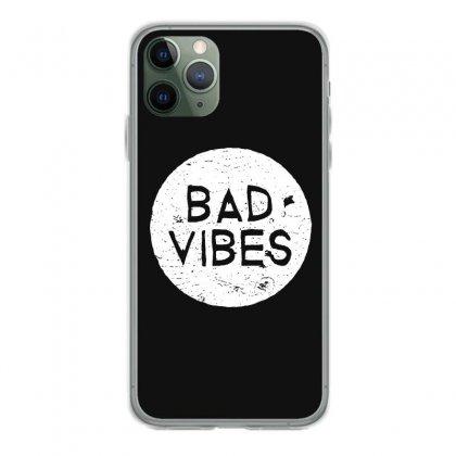Bad Vibes White Style Iphone 11 Pro Case Designed By Meganphoebe