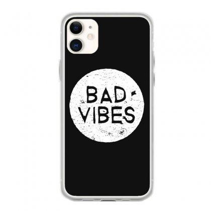 Bad Vibes White Style Iphone 11 Case Designed By Meganphoebe