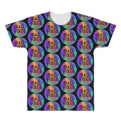 Bad Vibes All Over Men's T-shirt Designed By Meganphoebe