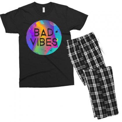 Bad Vibes Men's T-shirt Pajama Set Designed By Meganphoebe
