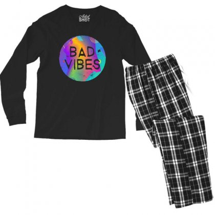Bad Vibes Men's Long Sleeve Pajama Set Designed By Meganphoebe
