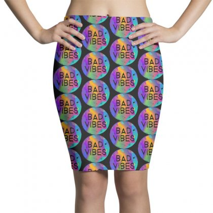 Bad Vibes Pencil Skirts Designed By Meganphoebe