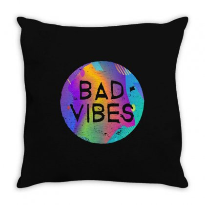 Bad Vibes Throw Pillow Designed By Meganphoebe