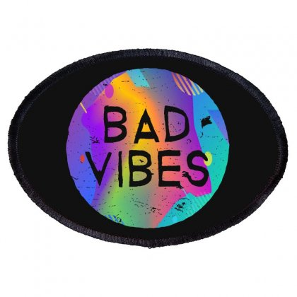 Bad Vibes Oval Patch Designed By Meganphoebe
