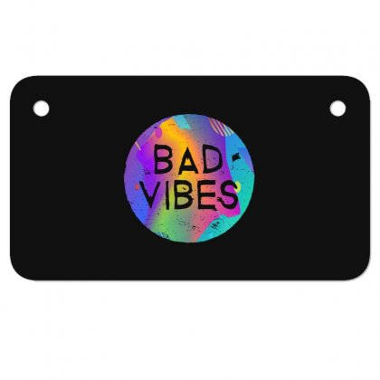Bad Vibes Motorcycle License Plate Designed By Meganphoebe