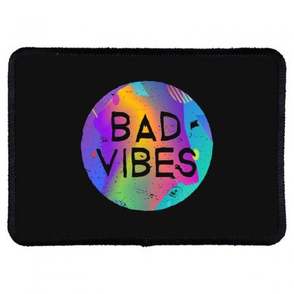 Bad Vibes Rectangle Patch Designed By Meganphoebe
