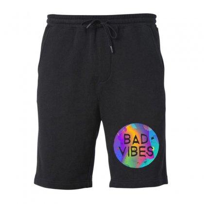 Bad Vibes Fleece Short Designed By Meganphoebe
