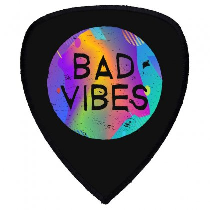 Bad Vibes Shield S Patch Designed By Meganphoebe