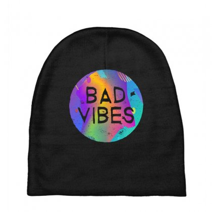 Bad Vibes Baby Beanies Designed By Meganphoebe