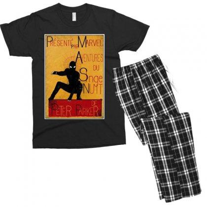 Adventures Of The Night Spider Men's T-shirt Pajama Set Designed By Meganphoebe