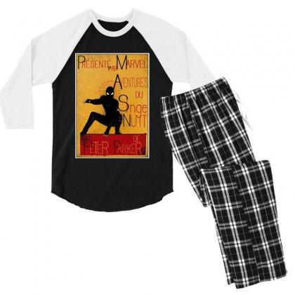 Adventures Of The Night Spider Men's 3/4 Sleeve Pajama Set Designed By Meganphoebe