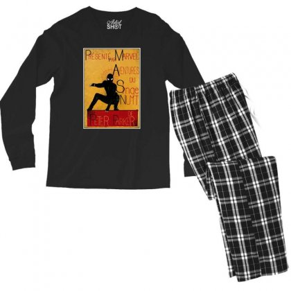 Adventures Of The Night Spider Men's Long Sleeve Pajama Set Designed By Meganphoebe