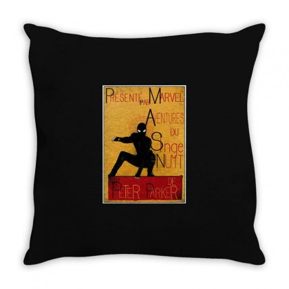 Adventures Of The Night Spider Throw Pillow Designed By Meganphoebe