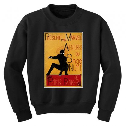 Adventures Of The Night Spider Youth Sweatshirt Designed By Meganphoebe