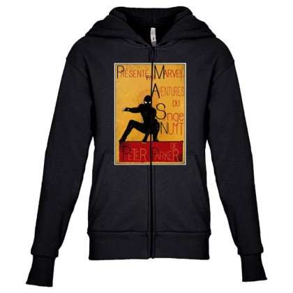 Adventures Of The Night Spider Youth Zipper Hoodie Designed By Meganphoebe