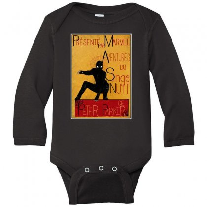 Adventures Of The Night Spider Long Sleeve Baby Bodysuit Designed By Meganphoebe