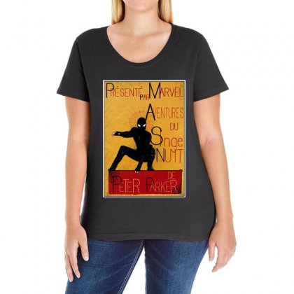 Adventures Of The Night Spider Ladies Curvy T-shirt Designed By Meganphoebe