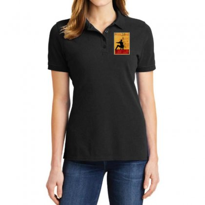Adventures Of The Night Spider Ladies Polo Shirt Designed By Meganphoebe