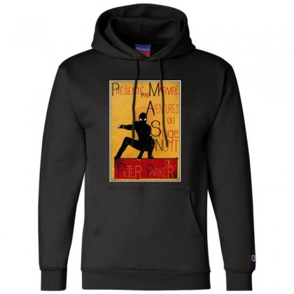 Adventures Of The Night Spider Champion Hoodie Designed By Meganphoebe