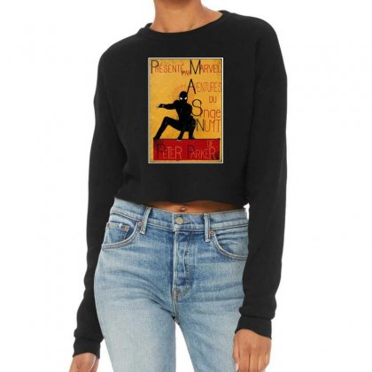 Adventures Of The Night Spider Cropped Sweater Designed By Meganphoebe