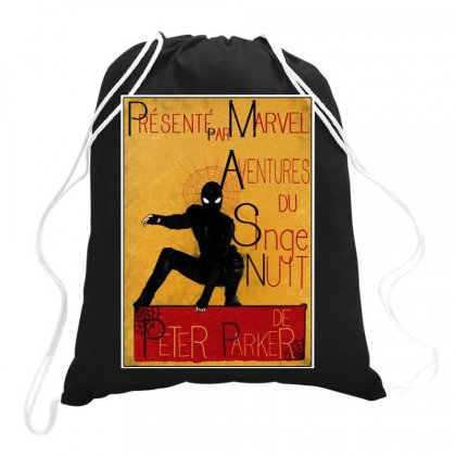 Adventures Of The Night Spider Drawstring Bags Designed By Meganphoebe