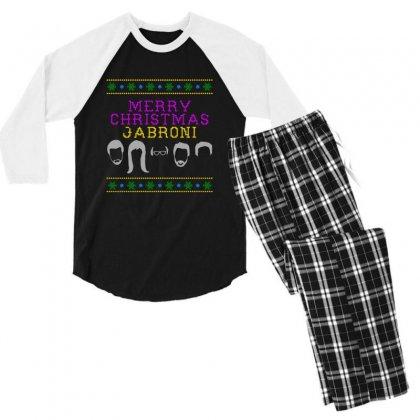 Awesome Merry Christmas Jabroni Ugly Men's 3/4 Sleeve Pajama Set Designed By Meganphoebe