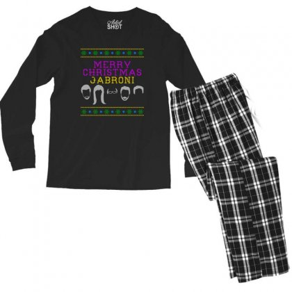 Awesome Merry Christmas Jabroni Ugly Men's Long Sleeve Pajama Set Designed By Meganphoebe
