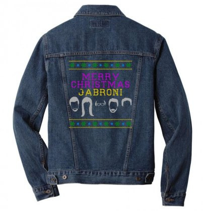 Awesome Merry Christmas Jabroni Ugly Men Denim Jacket Designed By Meganphoebe
