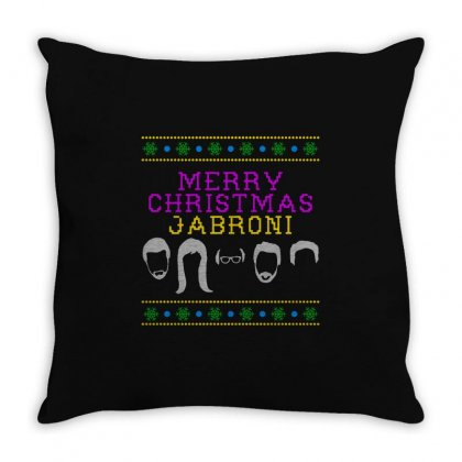 Awesome Merry Christmas Jabroni Ugly Throw Pillow Designed By Meganphoebe