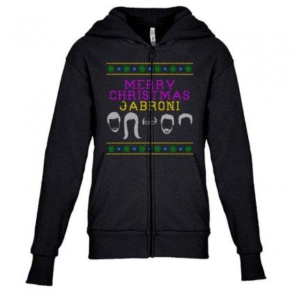 Awesome Merry Christmas Jabroni Ugly Youth Zipper Hoodie Designed By Meganphoebe
