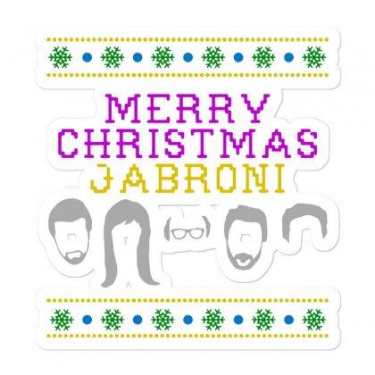 Awesome Merry Christmas Jabroni Ugly Sticker Designed By Meganphoebe