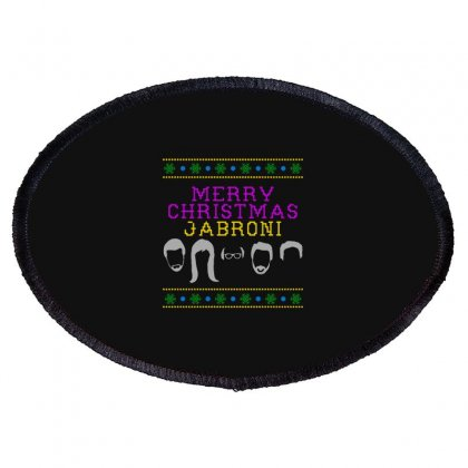 Awesome Merry Christmas Jabroni Ugly Oval Patch Designed By Meganphoebe