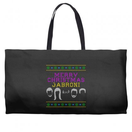 Awesome Merry Christmas Jabroni Ugly Weekender Totes Designed By Meganphoebe