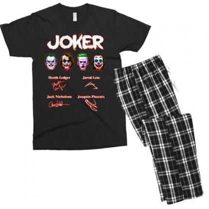 Funny Jokers Signatures Men's T-shirt Pajama Set Designed By Meganphoebe