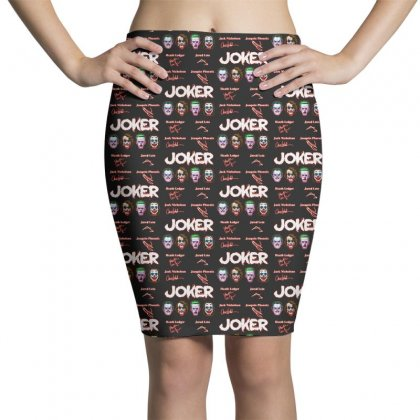 Funny Jokers Signatures Pencil Skirts Designed By Meganphoebe