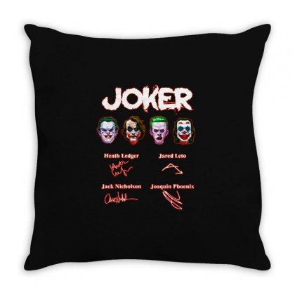 Funny Jokers Signatures Throw Pillow Designed By Meganphoebe