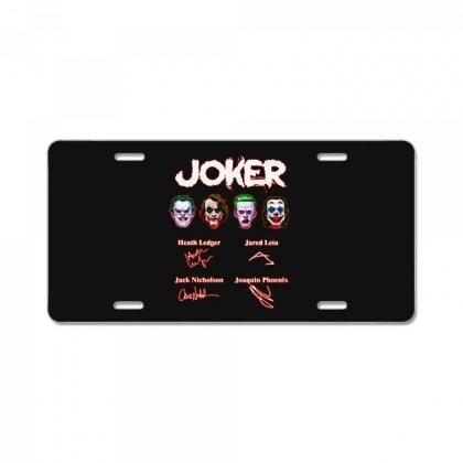 Funny Jokers Signatures License Plate Designed By Meganphoebe
