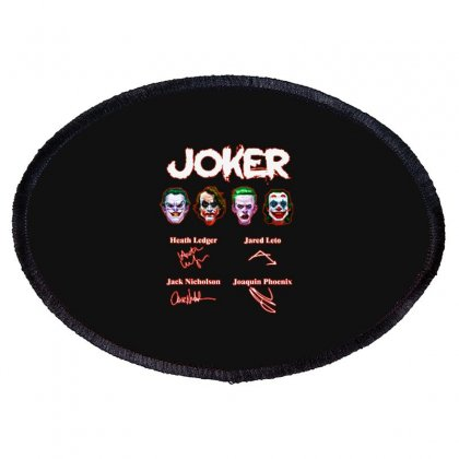 Funny Jokers Signatures Oval Patch Designed By Meganphoebe