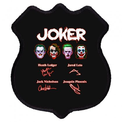 Funny Jokers Signatures Shield Patch Designed By Meganphoebe
