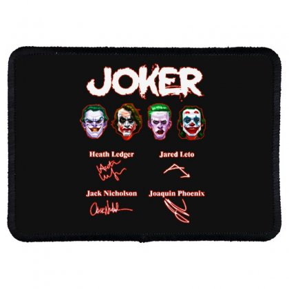 Funny Jokers Signatures Rectangle Patch Designed By Meganphoebe