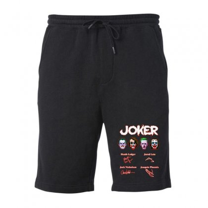 Funny Jokers Signatures Fleece Short Designed By Meganphoebe