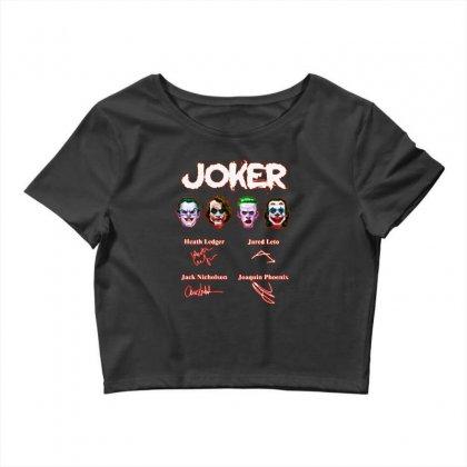 Funny Jokers Signatures Crop Top Designed By Meganphoebe