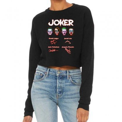 Funny Jokers Signatures Cropped Sweater Designed By Meganphoebe