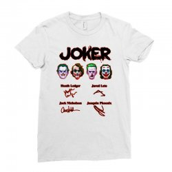 jokers signatures funny Ladies Fitted T-Shirt | Artistshot