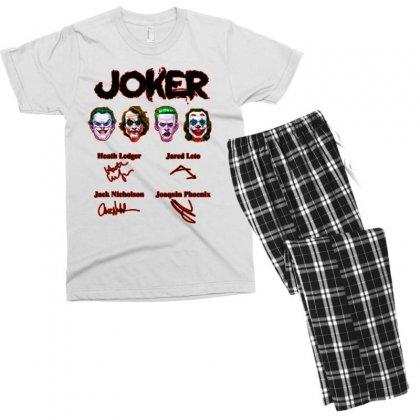 Jokers Signatures Funny Men's T-shirt Pajama Set Designed By Meganphoebe