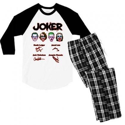 Jokers Signatures Funny Men's 3/4 Sleeve Pajama Set Designed By Meganphoebe
