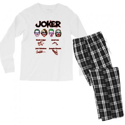 Jokers Signatures Funny Men's Long Sleeve Pajama Set Designed By Meganphoebe
