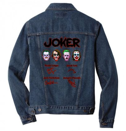 Jokers Signatures Funny Men Denim Jacket Designed By Meganphoebe