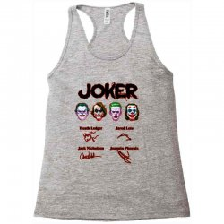 jokers signatures funny Racerback Tank | Artistshot